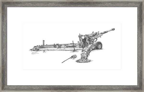 M198 Howitzer - Natural Sized Prints Framed Print