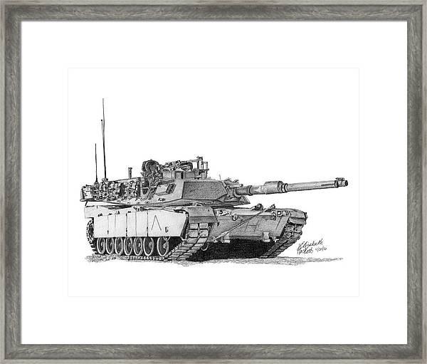 M1a1 A Company Commander Tank Framed Print