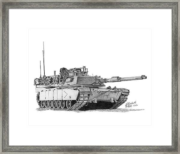 M1a1 B Company Commander Tank Framed Print
