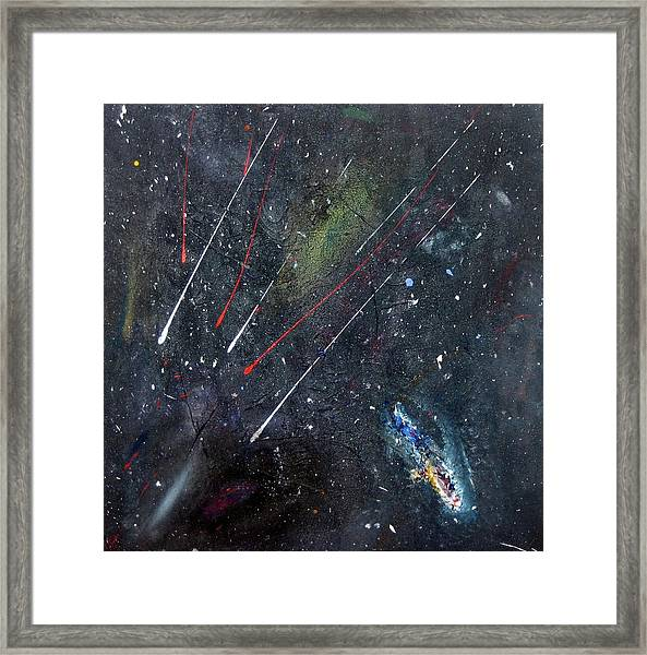 Framed Print featuring the painting M51 by Michael Lucarelli