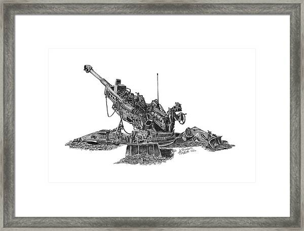 M777a1 Howitzer Framed Print