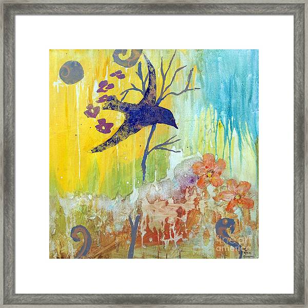 Ma Doh Bird Soars Framed Print