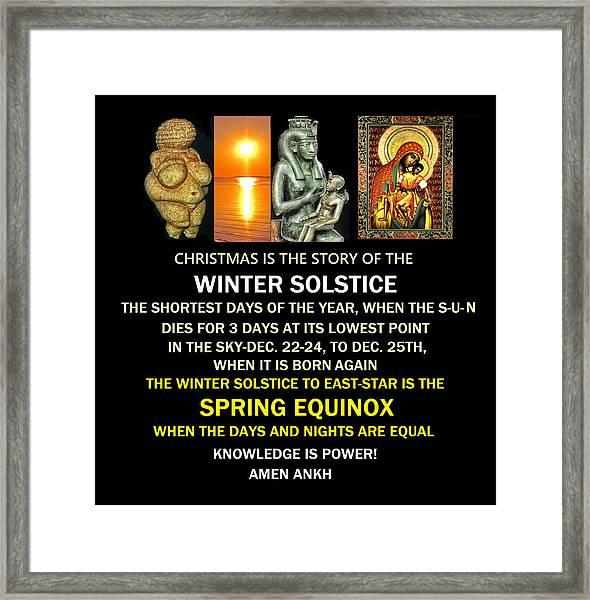 Ma Ra Solstice Framed Print
