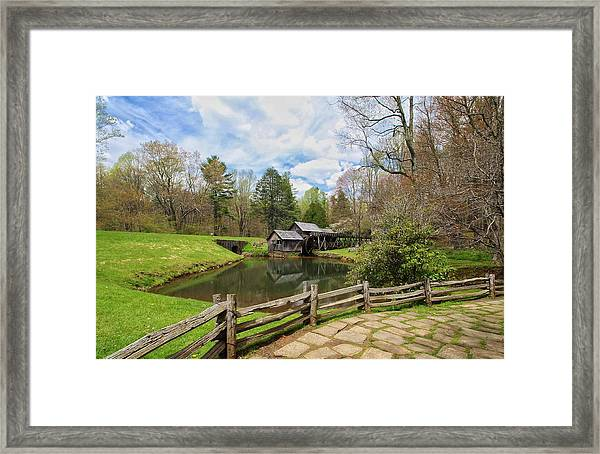 Mabry Mill In The Spring Framed Print