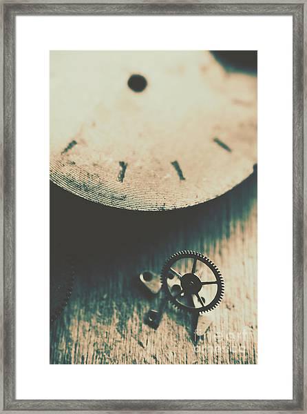 Machine Time Framed Print