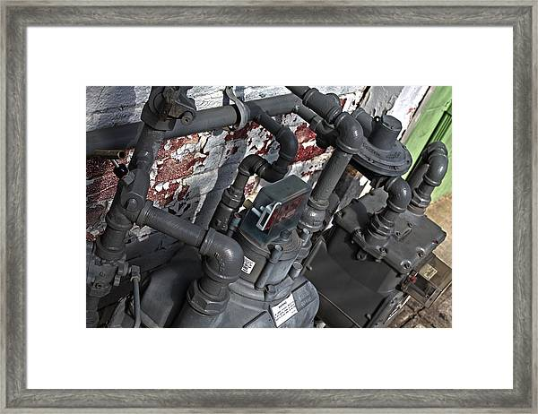 Framed Print featuring the photograph Machinery by Break The Silhouette