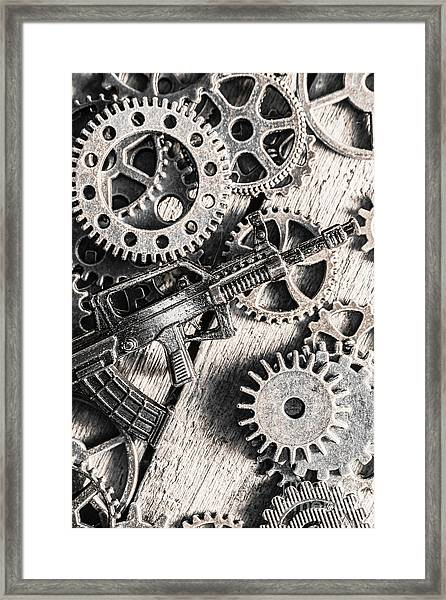Machines Of Military Precision  Framed Print
