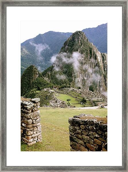 Machu Picchu In The Morning Light Framed Print