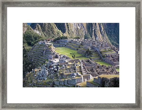 Machu Picchu Inca Ruins Framed Print