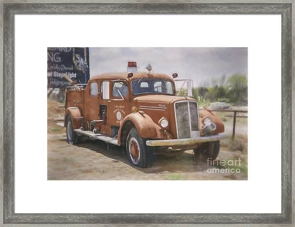 Mack Fire Truck  Framed Print