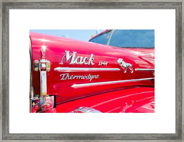 Mack Truck Hood Badges Framed Print