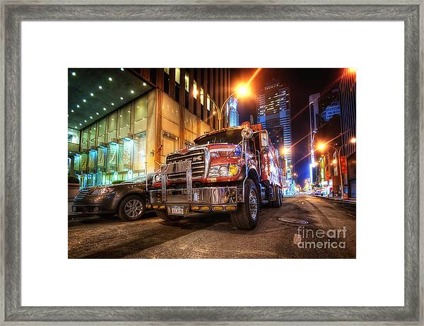 Mack Truck Nyc Framed Print