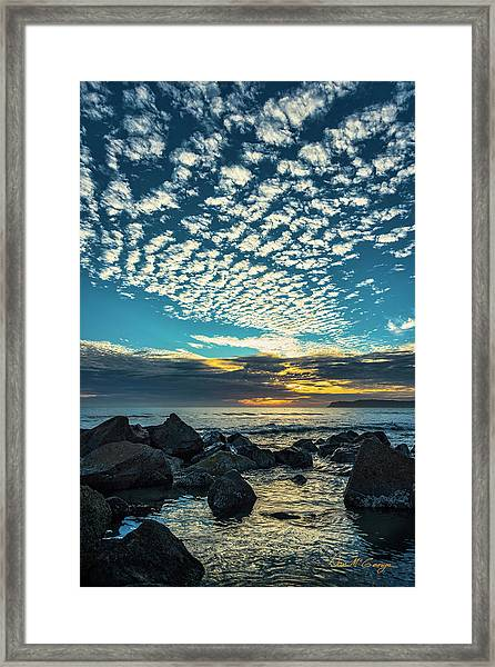 Mackerel Sky Framed Print