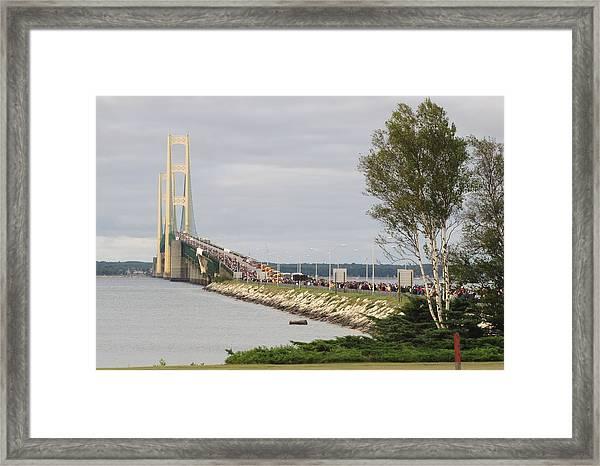 Mackinac Bridge Walk Framed Print