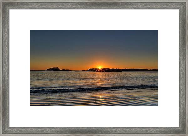 Mackinsie Beach Sun Burst Framed Print