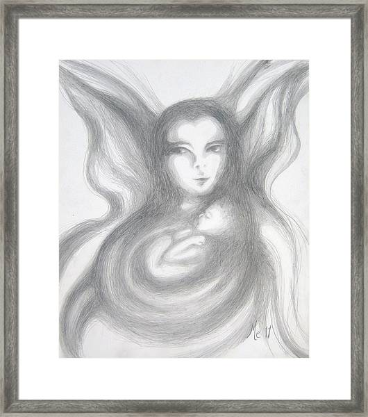Madama Butterfly With Son Framed Print