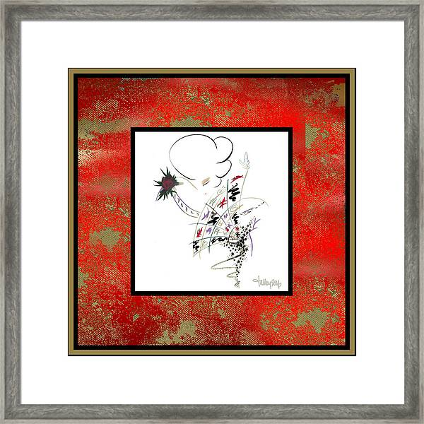 Framed Print featuring the painting Madame Butterfly by Larry Talley