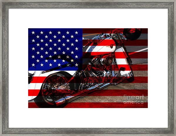 Made In The Usa . Harley-davidson . 7d12757 Framed Print