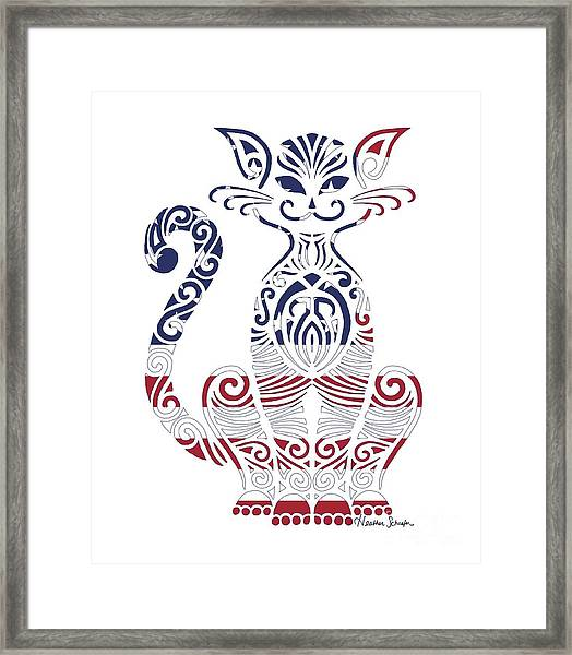 Made In The Usa Cat Framed Print