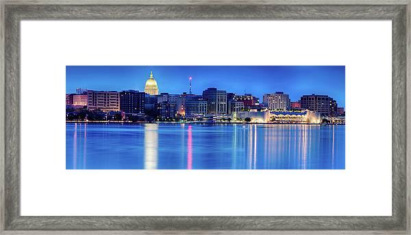 Madison Skyline Reflection Framed Print