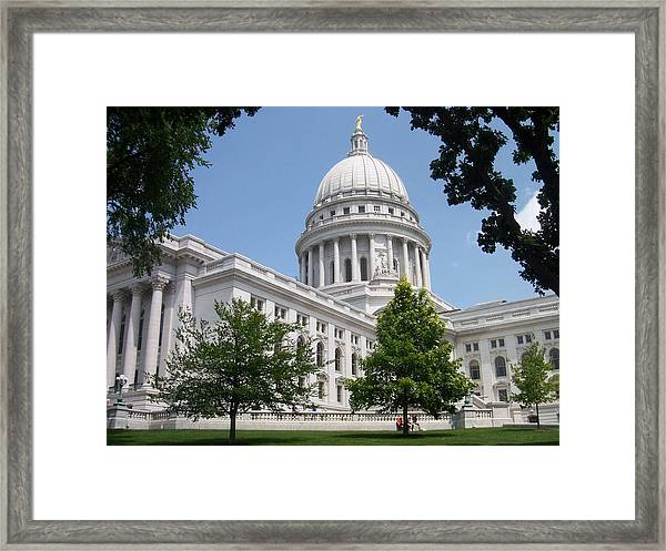 Madison Wi State Capitol Framed Print