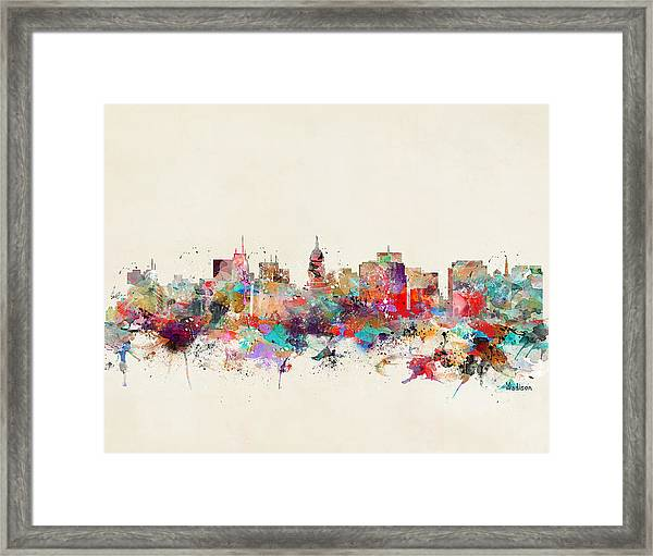 Madison Wisconsin  Framed Print