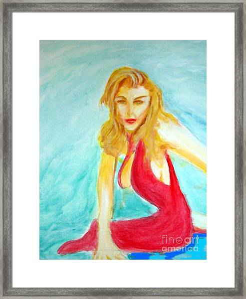 Madona Relaxed Framed Print