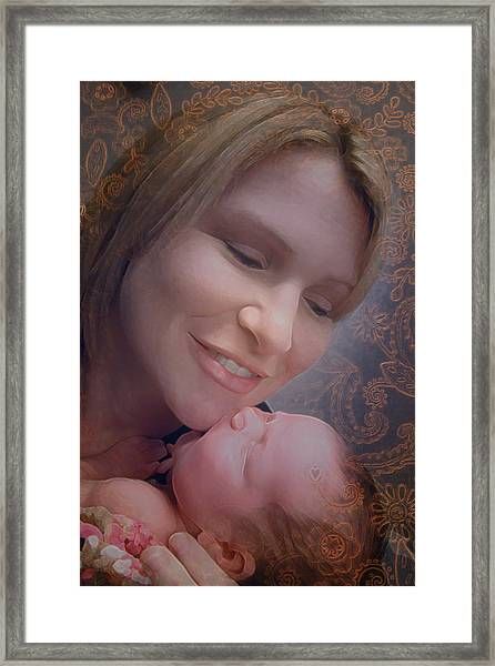 Madonna And Child 2 Framed Print