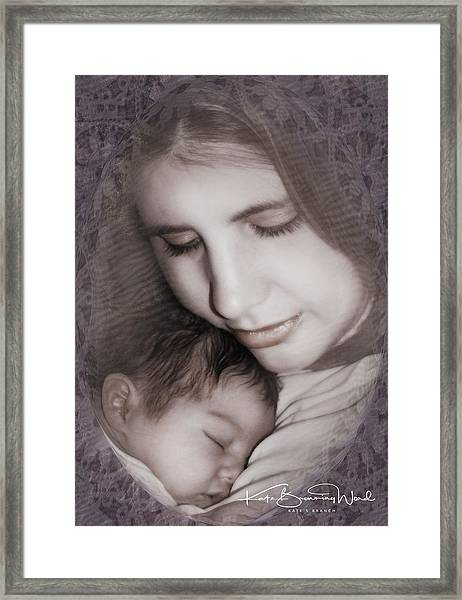 Madonna And Child 3 Framed Print