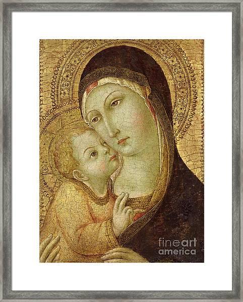 Madonna And Child Framed Print