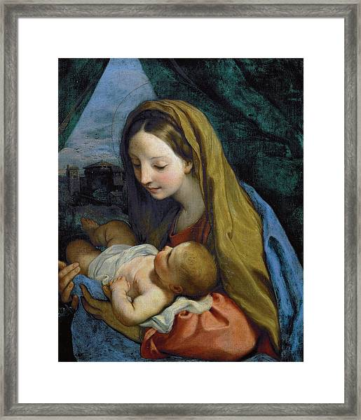 Framed Print featuring the painting Madonna And Child by Carlo Maratta
