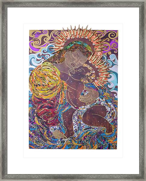 Madonna And Child The Sacred And Profane Framed Print