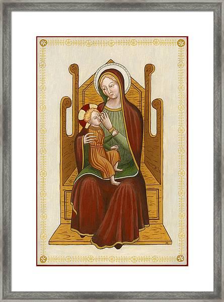 Madonna Del Latte - Madonna Nursing Framed Print