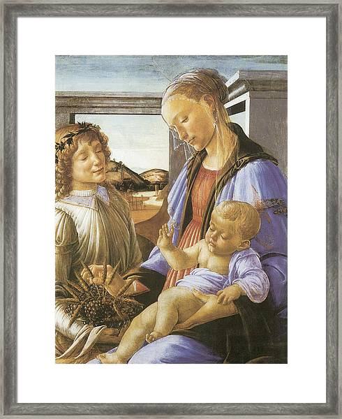 Madonna Of The Eucharist Framed Print by Sandro Botticelli