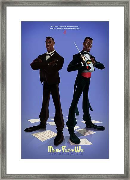 Maesto Fresh Wes Framed Print
