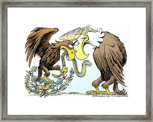 Maga Vs Mexico Framed Print