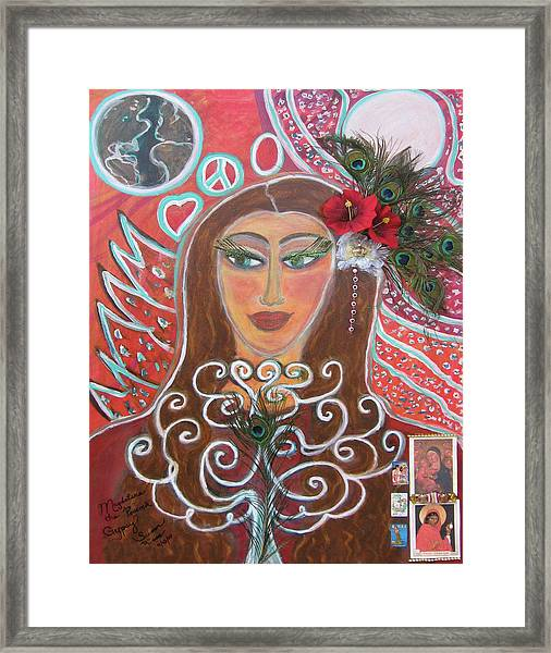 Magdalena The Peacock Gypsy Framed Print by Susan Risse