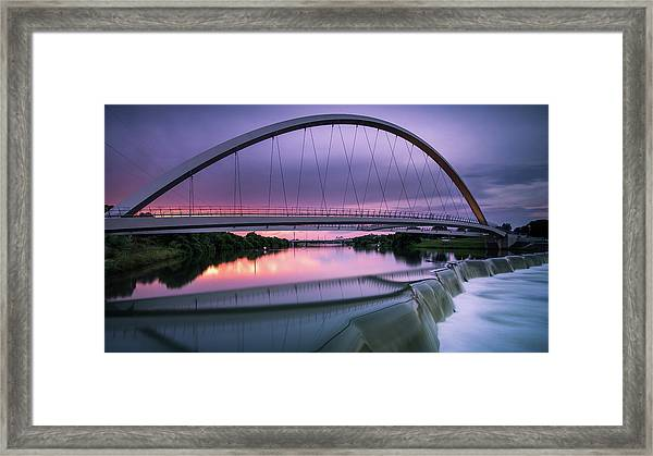 Magenta In The Midwest Framed Print