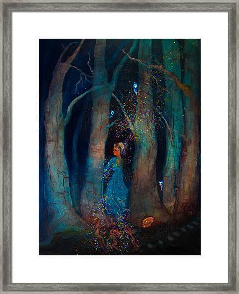 Magic Birch Trees Framed Print by Patricia Motley