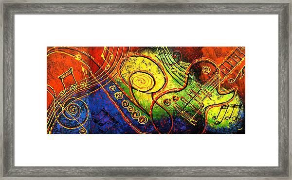 Magic Guitar Framed Print