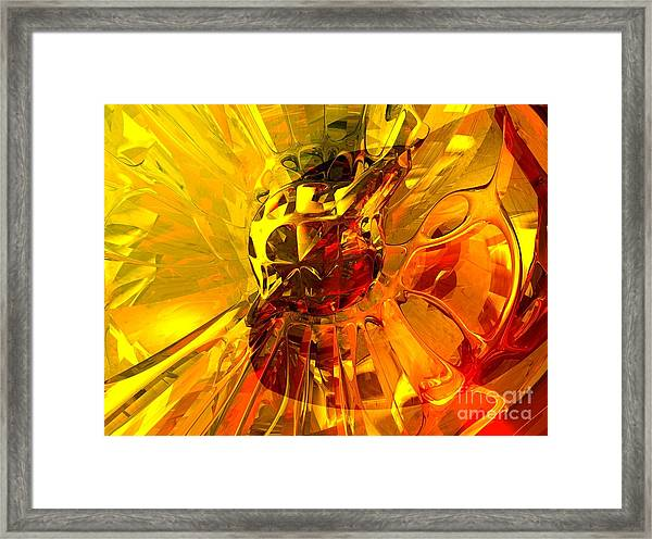 Magic Honeycomb Abstract Framed Print