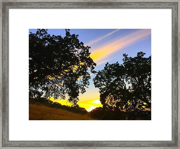 Magic Hour Sunset Framed Print