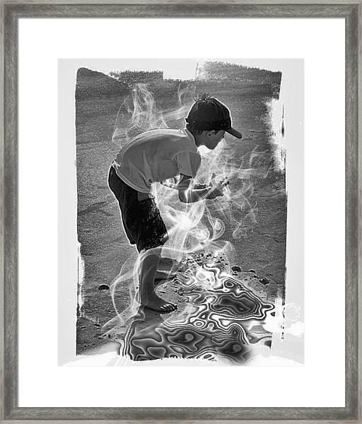 Magic Sand Framed Print