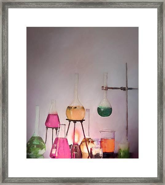Magical Beakers Framed Print