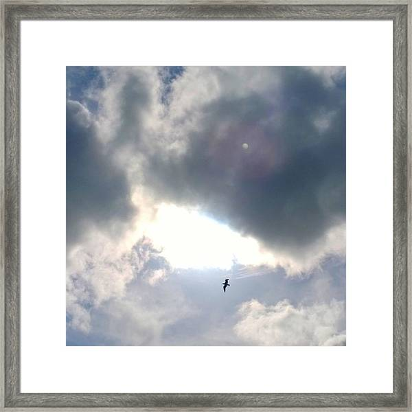 Magical #clouds Today :-) #sky #weather Framed Print