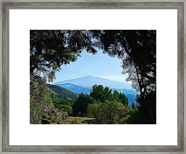 Magical Etna Framed Print