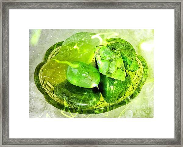 Magical Gemstones Framed Print