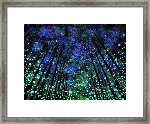Magical Summer Nights Framed Print