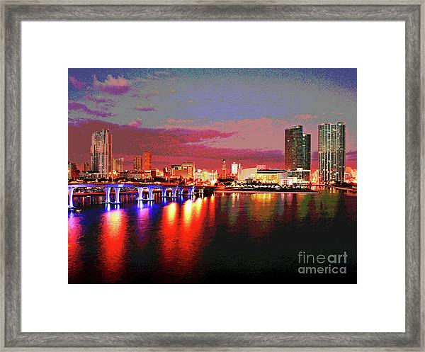 Magnificent Miami Sunrise Framed Print