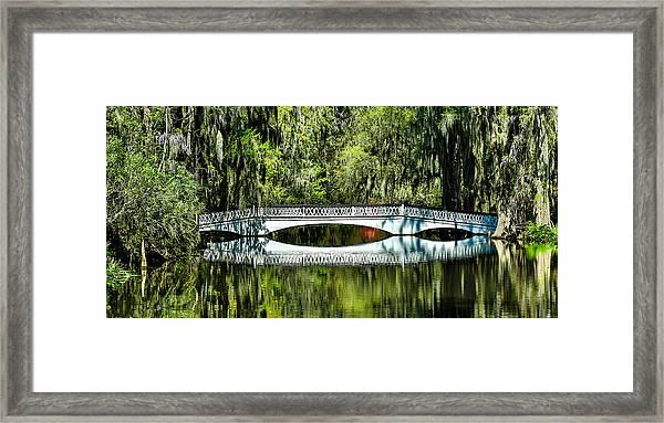 Magnolia Plantation Bridge - Charleston Sc Framed Print
